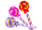 10 Inflatable Lollipops in Red, Pink and Lavender