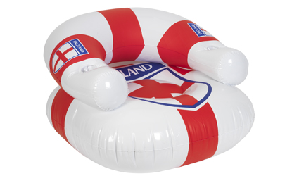 Inflatable England Chair with Can Holder