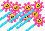 10 Inflatable Flowers with Smiley Faces