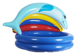 Babies 2 Ring Splash Paddling Pool with Dolphin Sunshade