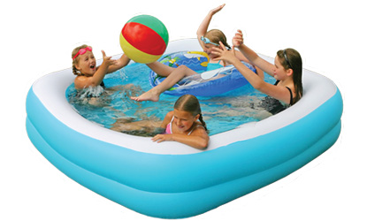 6ft square large thick walled paddling pool for Large paddling pool