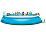 Mega 18ft Easy Set Paddling Pool with Filter Pump