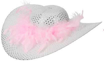 Fancy Dress Festival Hat Floppy Wide Rim Sequined Hat