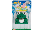 Wide mouthed Frog LED torch keyring with a croak