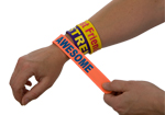 Party Bag Fillers Silicone Slogan Snap Bracelets 15pcs
