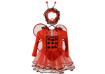Girls Ladybird Fancy Dress Up Costume