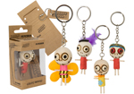 Single Wooden Voodoo Doll Keychain