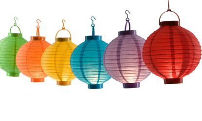 Battery Operated Chinese Paper Lantern 6pc