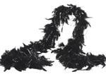 Black Feather Boa with Silver Tinsel