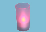 Battery Operated Flickering Colour Change Tealight Candle