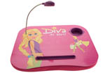 Pink Kids Portable Laptop Tray for Girls