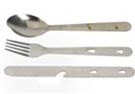 3pc Travel and camping cutlery set with bottle opener