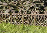24pc Wrought Iron Style Decorative Garden Lawn Edging for soft ground