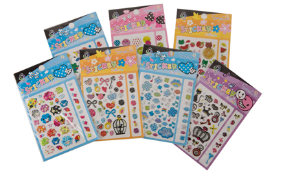 21 Sheets of Assorted Kids Laser Stickers