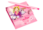 Glitter Fairy Pink Memo Pad with Pen