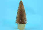 Christmas Topiary - Potted 10 inch Gold and Glitter Artificial Christmas Tree
