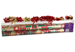 Jumbo Foil Christmas Gift Wrap with Ribbon and Bow