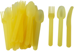 30pc Plastic Picnic Cutlery Set