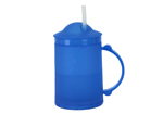 Plastic Frosty Mug with Lid and Straw