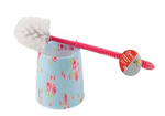 Pink and Blue Floral Toilet Brush