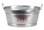 Party Tub Metal Beer n Ice Bucket