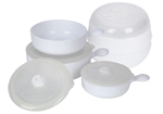 Eazee Cook Microwave Steamer and 6 Piece Pan Set