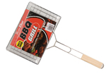 Long Handled BBQ Meat and Fish Grill