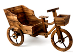 Burnt Wood Planter Trike