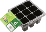 6 Pack of 9 Cell Seedling Seeding Trays