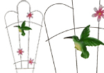 Hummingbird Decorative Garden Metal Trellis