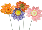 Colourful Moving Sunflower Garden Ornaments