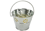 Set of 2 Decorative Mini Garden Citronella Candle Bucket
