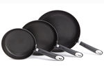 Set of 3 Ethos Hells Kitchen Mercury Hard Anodised Frying Pans