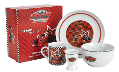 Kids Breakfast Set Ceramic Roary the Racing Car Breakfast Set