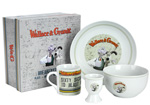 Kids Breakfast Set Ceramic Wallace and Gromit Breakfast Set