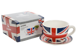 Cool Britannia Pop Art Mod Union Jack Tea Cup Planter 20cm