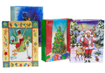 4 Asst Extra Large Christmas Gift Bags 33cm
