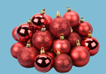 24 Red Mixed Size Matt and Shinny Baubles