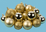 24 Gold Mixed Size Matt and Shinny Baubles