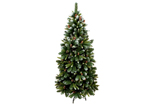 Artificial Frosted Christmas Tree - Slim Frosted Tree with Pinecones