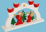 Wooden Christmas Candle Holder Bridge