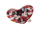 Mickey and Minnie Love Heart Cushion 20cm