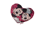 Mickey and Minnie Holding Hands Love Heart Cushion 20cm