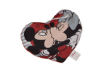 Mickey and Minnie Kisses Love Heart Cushion 20cm