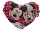 Mickey and Minnie Love Heart Cushion 33cm