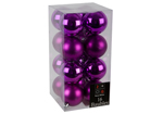 Tree Baubles 60mm x 16 Mixed Purple Baubles