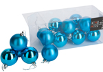 Tree Baubles 60mm x 16 Mixed Turquoise Baubles