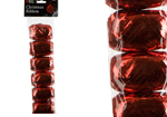 Pack of 4 Red Christmas Gift Ribbon 10m