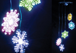Hanging Colour Changing Snowflake Mobile