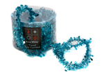 Turquoise Tinsel Star Garland 20ft